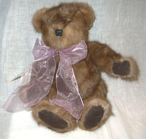 COLLECTABLES: Mink teddy bear