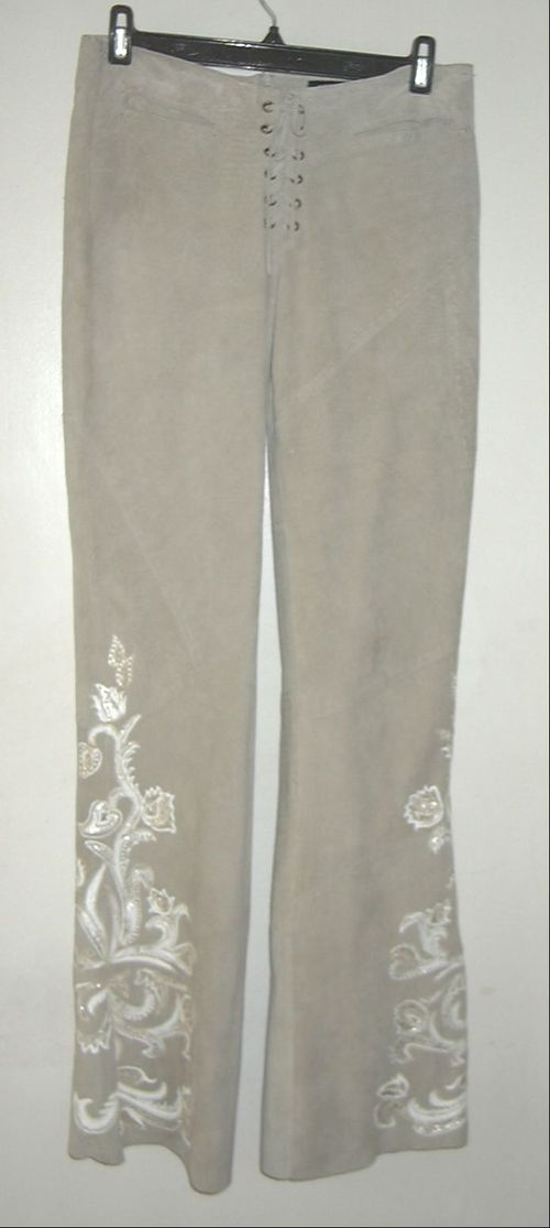 CLOTHING & SHOES - LADIES  SUEDE PANTS, 6