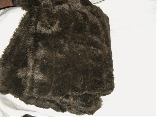 FABRIC: FAUX MINK, BROWN