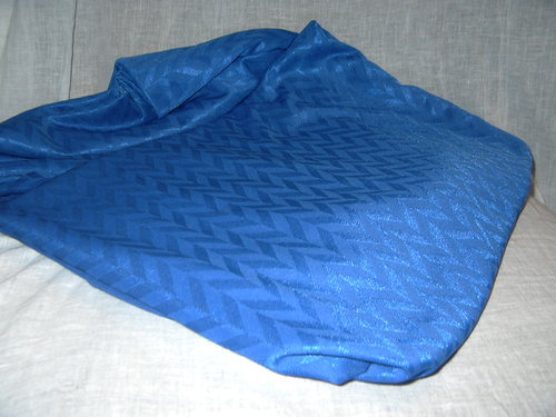 FABRIC: STRETCH, SYNTHETIC FIBRE, BLUE