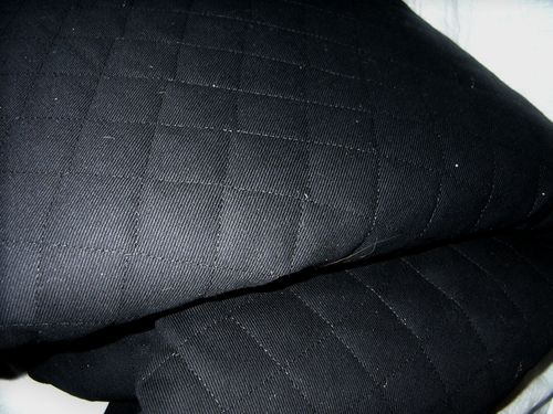 FABRIC: HEAVY BLACK QUILTED COTTON PANELS