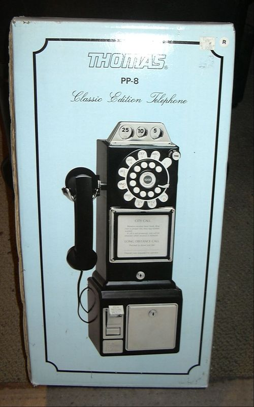 COLLECTABLES: RETRO PAYPHONE WITH COIN BOX