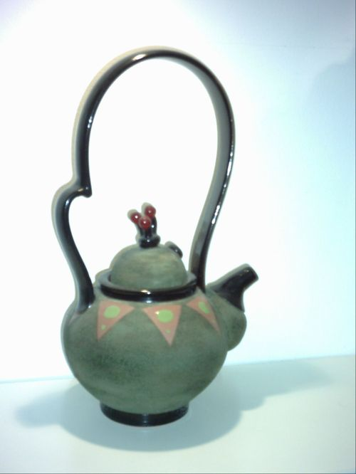 COLLECTABLE:  TEA POT - HAND MADE